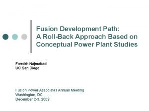 Fusion Development Path A RollBack Approach Based on