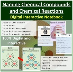 Naming Chemical Compounds and Chemical Reactions Digital Interactive