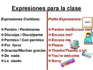 Expresiones para la clase Expresiones Cortses Polite Expressions