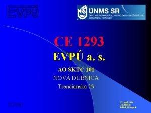 CE 1293 EVP a s AO SKTC 101