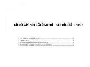 DL BLGSNN BLMLER SES BLGS HECE 1 DL