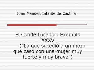 Juan Manuel Infante de Castilla El Conde Lucanor