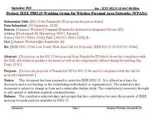 September 2018 doc IEEE 802 15 18 0447