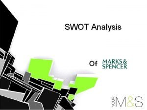SWOT Analysis Of The SWOT Analysis Strengths Weaknesses