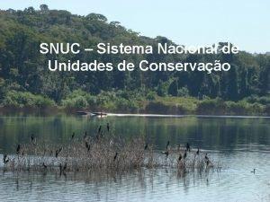 SNUC Sistema Nacional de Unidades de Conservao reas