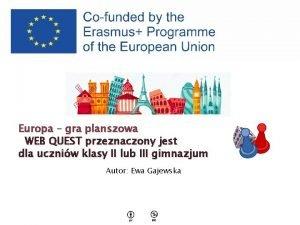 Europa gra planszowa WEB QUEST przeznaczony jest dla