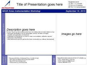 Title of Presentation goes here September 16 2015