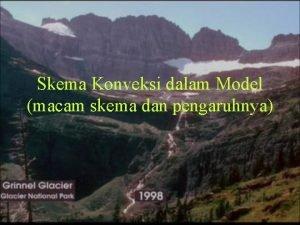 Skema Konveksi dalam Model macam skema dan pengaruhnya