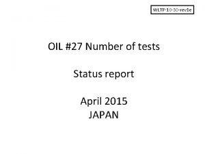 WLTP10 30 rev 1 e OIL 27 Number