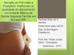 Ateno ao Prnatal e Puerprio melhorias na qualidade