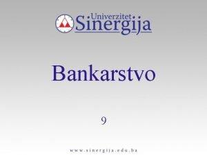 Bankarstvo 9 PLASMANI SREDSTAVA BANAKA PLASMANI Definicije qfrancuska
