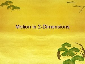 Motion in 2 Dimensions Projectile Motion A projectile