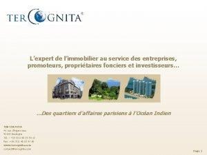 Lexpert de limmobilier au service des entreprises promoteurs