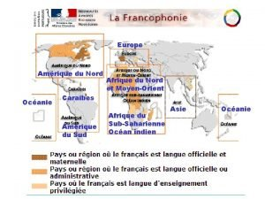 Europe Amrique du Nord Ocanie Afrique du Nord