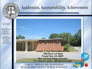Joseph H Huie Elementary School 1260 Rock Cut