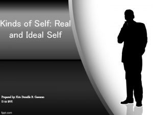 Kinds of Self Real and Ideal Self Prepared