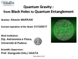 Quantum Gravity from Black Holes to Quantum Entanglement