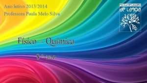 Ano letivo 20132014 Professora Paula Melo Silva Fsico