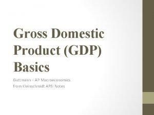 Gross Domestic Product GDP Basics Guttmann AP Macroeconomics