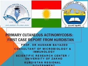 PRIMARY CUTANEOUS ACTINOMYCOSIS FIRST CASE REPORT FROM KURDISTAN