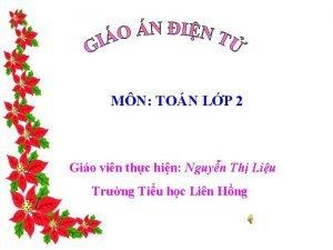 MN TON LP 2 Gio vin thc hin