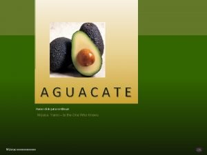 AGUACATE Hacer click para continuar Msica Yanni to