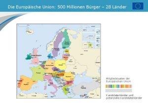 Die Europische Union 500 Millionen Brger 28 Lnder