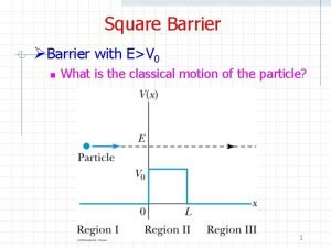 Square Barrier Barrier with EV 0 n What
