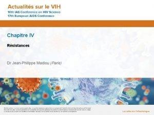 Chapitre IV Rsistances Dr JeanPhilippe Madiou Paris La
