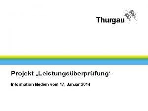 Finanzverwaltung Vertraulich Projekt Leistungsberprfung Information Medien vom 17