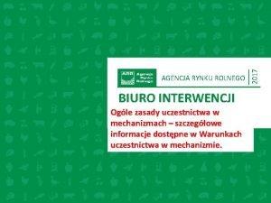 BIURO INTERWENCJI Ogle zasady uczestnictwa w podtytu mechanizmach