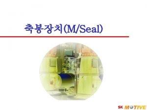MSeal SK Corporation 2 Seal 4 Seal Hydraulic
