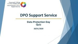 DPO Support Service Data Protection Day Quiz 28012020
