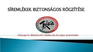 SREMLKEK BIZTONSGOS RGZTSE Kfarag s Mkkszt Vllalkozk Orszgos