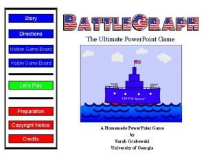 Story Directions The Ultimate Power Point Game Hidden