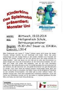 wann wo Mittwoch 19 03 2014 Heiligenstock Schule