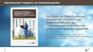 Internationaler Vergleich von Chemiestandorten Die Studie von Oxford