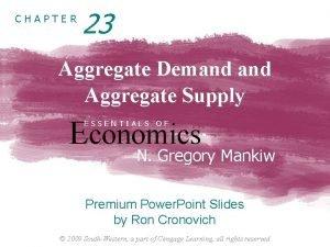 CHAPTER 23 Aggregate Demand Aggregate Supply Economics ESSENTIALS