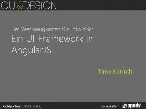 Der Werkzeugkasten fr Entwickler Ein UIFramework in Angular
