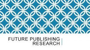 FUTURE PUBLISHING RESEARCH FUTURE PUBLISHING RESEARCH Future plc