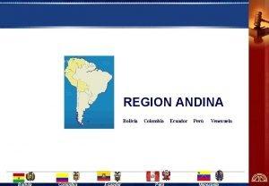 REGION ANDINA Bolivia Colombia Per Ecuador Per Venezuela