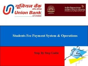 Students Fee Payment System Operations Step By Step