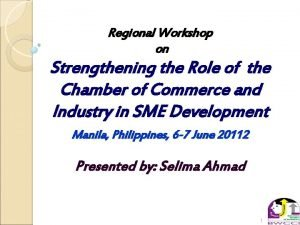 Regional Workshop on Strengthening the Role of the