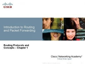 Introduction to Routing and Packet Forwarding Routing Protocols
