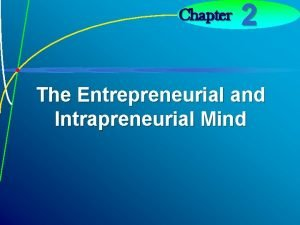Chapter 2 The Entrepreneurial and Intrapreneurial Mind 2