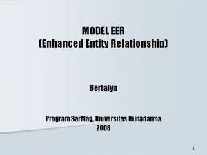 MODEL EER Enhanced Entity Relationship Bertalya Program Sar
