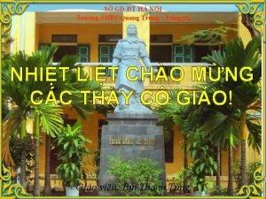 S GDT H NI Trng THPT Quang Trung
