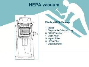 HEPA vacuum WetDry HEPA Vacuum 1 Intake 2