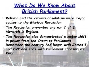 What Do We Know About British Parliament Religion