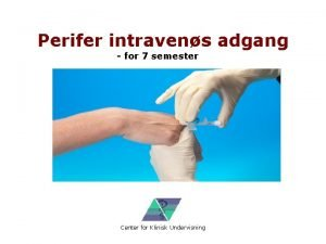 Perifer intravens adgang for 7 semester Center for
